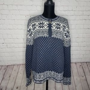 Westbound Thick Knitted Pullover Snowflake Sweater